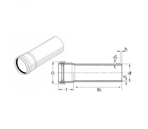 Труба канализационная Rehau Raupiano Plus 50х150 мм