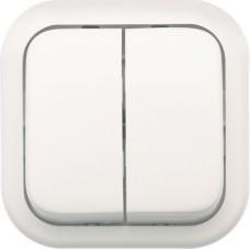 Выключатель Валентина А56-025 двухместный белый