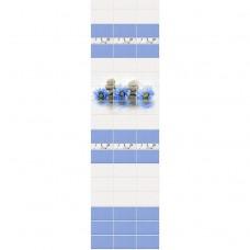 Стеновая панель ПВХ Novita фриз 3D Каприз узор 2700x250 мм