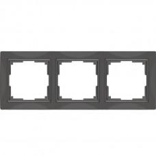Рамка трехместная Werkel Snabb Basic WL03-Frame-03 серо-коричневая