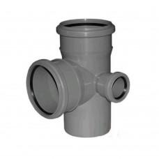 Крестовина канализационная ПП 110х110х110х50 мм 90 градусов правая с кольцом