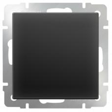 Механизм выключателя Werkel WL08-SW-1G-2W одноклавишный проходной черный матовый