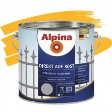 Alpina Direkt auf Rost гладкая RAL 1021 желтая 0,75 л