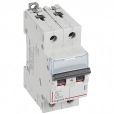Автоматический выключатель Legrand DX3-E 407274 2P C 6A 6кА