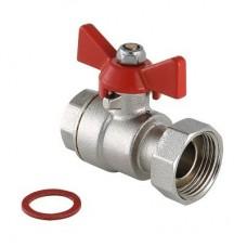 Кран шаровой Valtec VT.241.N.0405 полнопроходной латунный с накидной гайкой