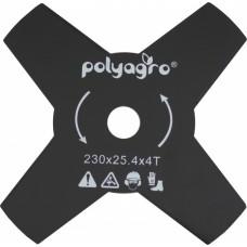 Диск для триммера, 255 х 25,4 толщина 1,4 мм, 4 лопасти, Polyagro