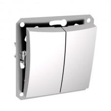Механизм выключателя Schneider Electric Дуэт WDE000151 двухклавишный белый