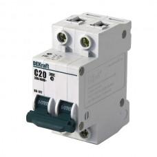 Автоматический выключатель DEKraft ВА-101 2п C 20А 4.5кА