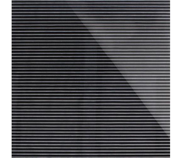 Дизайнерская 3D панель из стекла Artpole Vertical черный 600х600 мм