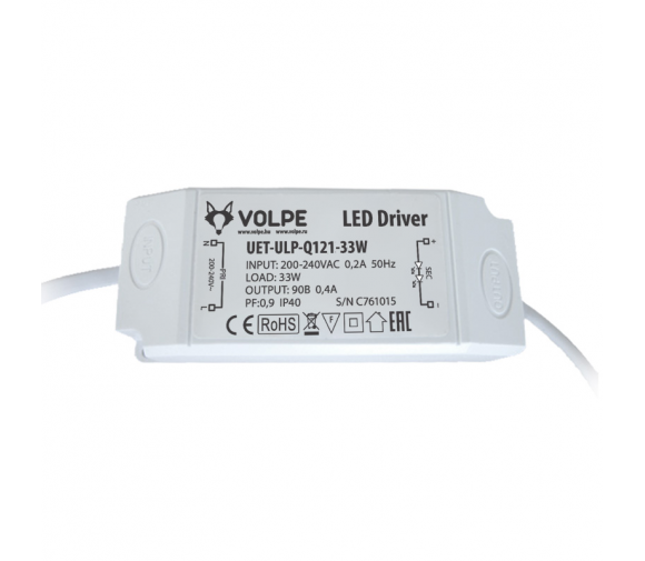 Блок питания Volpe UET-ULP-Q121-33W для светодиодного светильника ULP-Q121 6060-33W