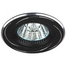 Светильник точечный Эра Kl34 Al/Bk алюминиевый  Mr16 12В 50Вт черный/хром 253989