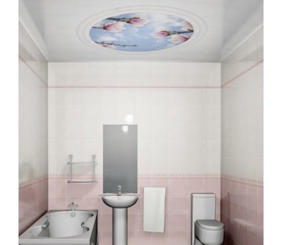 Панель потолочная ПВХ Novita 3D Магнолия 2500х250 мм 8 штук