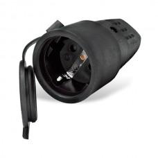 Штепсельное гнездо UNIVersal 602228 16А с заземлением черное