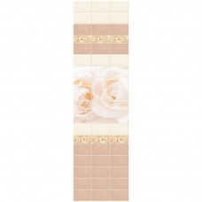Стеновая панель ПВХ Novita фриз 3D Вальс бежевый узор 2700x250 мм
