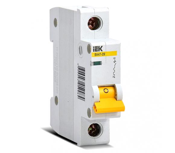 Автоматический выключатель IEK ВА47-29 1Р 3А С
