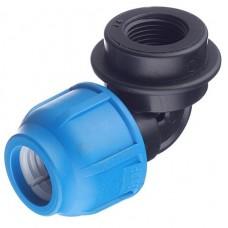 Отвод компрессионный ТПК-Аква 25 мм 1 дюйм 90 градусов с внутренней резьбой