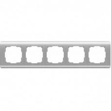 Рамка пятиместная Werkel Stream WL12-Frame-05 серебряная