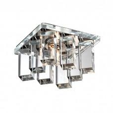 Светильник встраиваемый Novotech Caramel 2 369371 хром/прозрачный IP20 G9 40W 220V