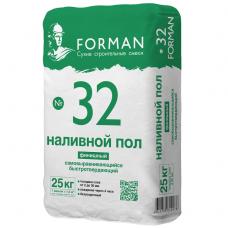 Пол наливной самовыравнивающийся Forman 32 финишный 25 кг