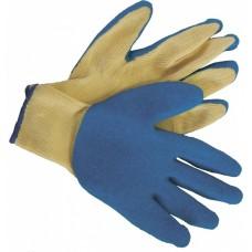 Перчатки рабочие х/б рельефный латексный облив