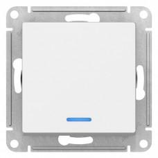 Механизм выключателя Schneider Electric AtlasDesign ATN000113 одноклавишный с индикатором белый