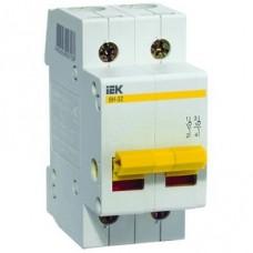 Выключатель нагрузки мини-рубильник IEK ВН-32 2Р 100А