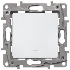 Механизм выключателя Legrand Etika 672203 одноклавишный с индикатором белый