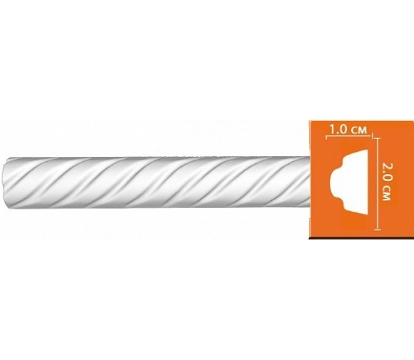 Молдинг полиуретановый Decomaster 98701 2400х20х10 мм
