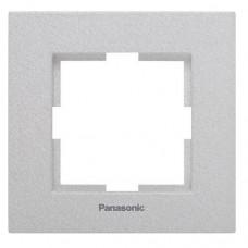 Рамка одноместная Panasonic Karre Plus WKTF08012SL-RES серебро