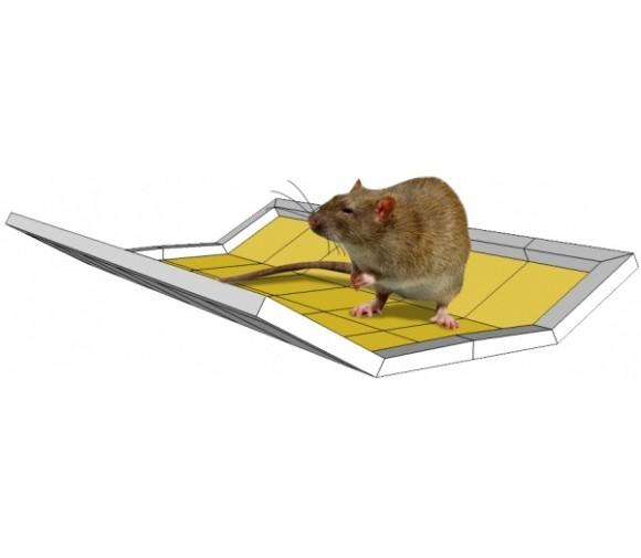Ловушка клеевая от крыс и других грызунов Mr. Mouse (книжка-трансформер) 40гр клея 21х32см