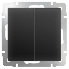 Механизм выключателя Werkel WL08-SW-2G двухклавишный черный матовый