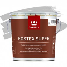Грунтовка противокоррозионная Tikkurila Rostex Super светло-серая 3 л