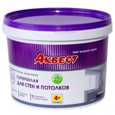 Аквест-4+ Cтандарт для стен и потолков супербелая 14 кг