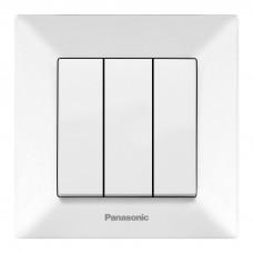 Выключатель Panasonic Arkedia WMTC00152WH-RES трехклавишный белый
