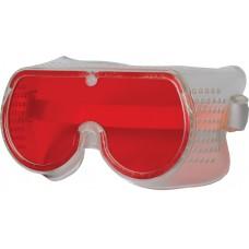 Очки защитные с прямой вентиляцией красные