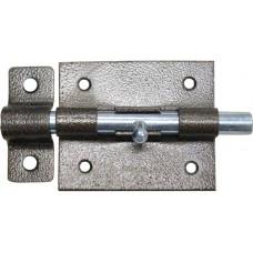 Задвижка накл. с ригел. D11 мм, 80 мм, серебро
