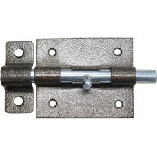 Задвижка накл. с ригел. D11 мм, 90 мм, серебро
