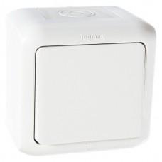 Выключатель Legrand Quteo 782300 IP 44 одноклавишный белый