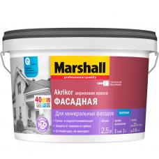 Краска фасадная Marshall Akrikor база BС матовая 2,5 л