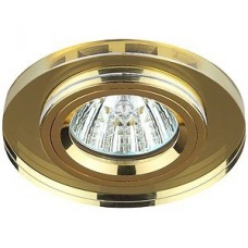 Светильник точечный Эра Dk7 Gd/Yl декор стекло круглый Mr16 12В 50Вт золото/желтый 253949