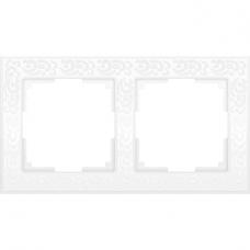 Рамка двухместная Werkel Flock WL05-Frame-02-white белая