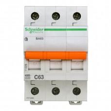 Автоматический выключатель Schneider Electric Домовой ВА63 3П C 63A 4,5кА