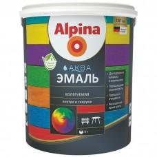 Эмаль акриловая Alpina Aqua База 1 шелковисто-матовая 0,9 л