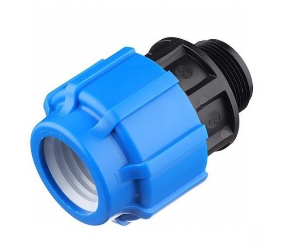Муфта компрессионная ТПК-Аква 20 мм 1/2 дюйма с наружной резьбой