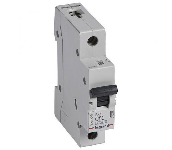 Автоматический выключатель Legrand RX3 419669 1P C 50A 4,5 кА