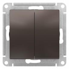 Механизм выключателя Schneider Electric AtlasDesign ATN000651 двухклавишный мокко