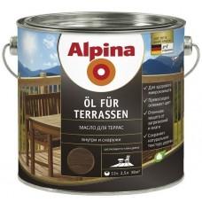 Масло для террас Alpina шелковисто-глянцевое темное 0,75 л