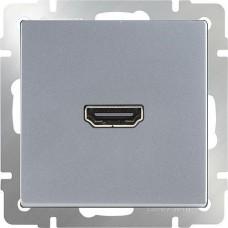 Механизм розетки Werkel HDMI WL06-60-11 серебряный