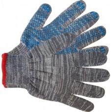 """Перчатки рабочие двойные утепленные шерсть ПВХ """"точка"""""""