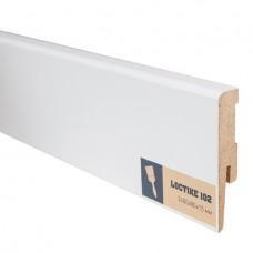 Плинтус МДФ под покраску Arbiton Loctike 102 МР0801 белый 2400х80х15 мм